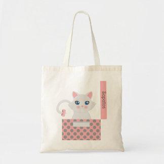 Cat in the box tote bag