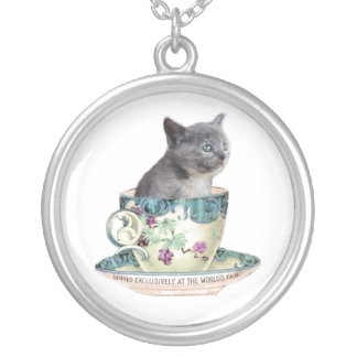 Cat in the Cup necklace