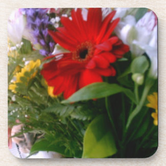 Cat in the Flowers Beverage Coasters