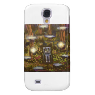 Cat in the forest samsung galaxy s4 cover