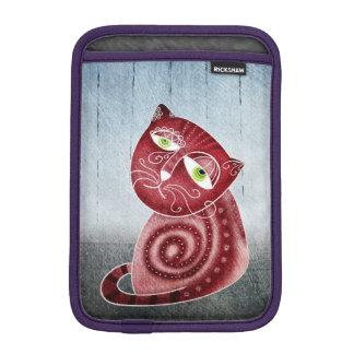 Cat in the garden iPad mini sleeve