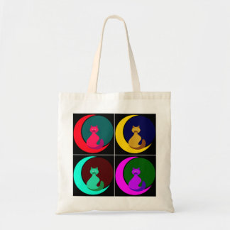 Cat in the Moon Budget Tote Bag