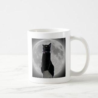 Cat in the Moon Coffee Mug