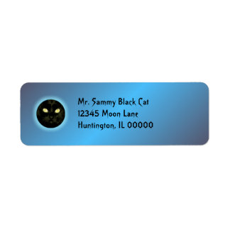 Cat in the Moon Halloween Return Address Label