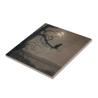 Cat in the Moonlight, , Alexandre Steinlen Small Square Tile