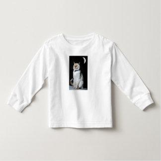 Cat in the night toddler t-shirt. toddler T-Shirt