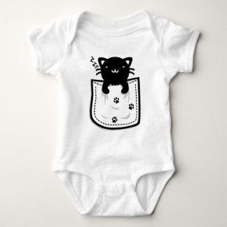 Cat_in_the_Pocket Baby Bodysuit