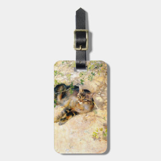 Cat in the Sunshine, Bruno Liljefors Luggage Tag
