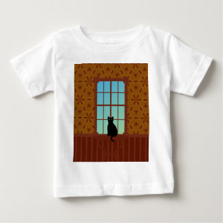 Cat in the window baby T-Shirt