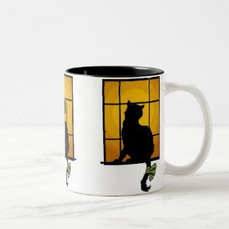 Cat in The Window Customizable Halloween Mug