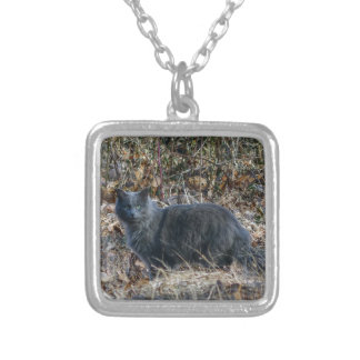 Cat in the Woods Silver Plated Necklace