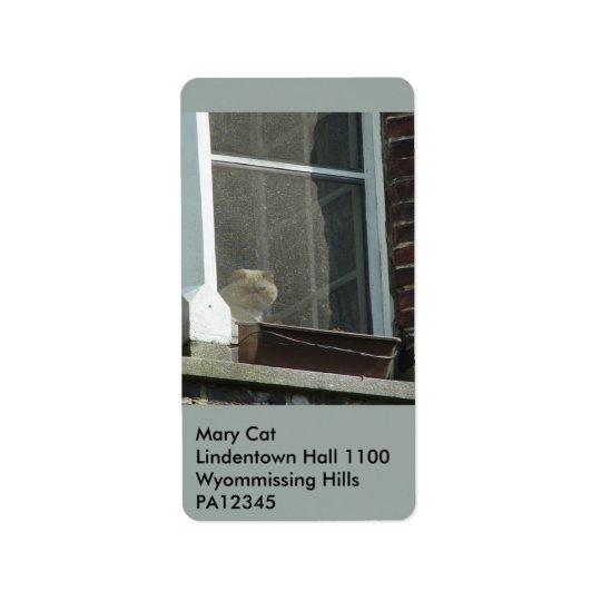 Cat in Window Label