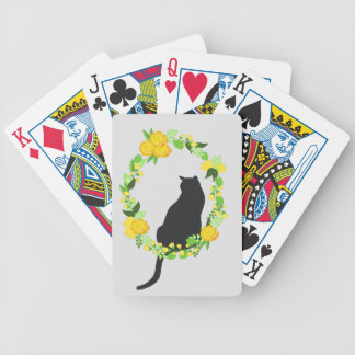 Cat in Wreath Deck Bicycle Playing Cards