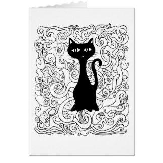 Cat in you curve card