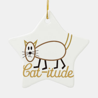 Cat-itude Attitude Ceramic Star Decoration