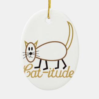 Cat-itude Attitude Ceramic Oval Decoration