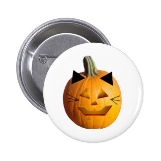 Cat Jack O Lantern Pinback Buttons