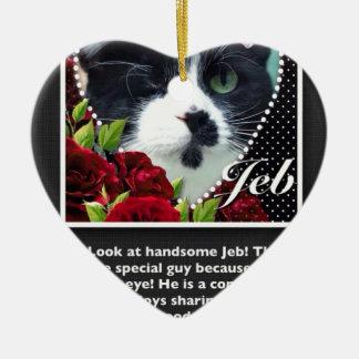 Cat: Jeb Ceramic Heart Decoration