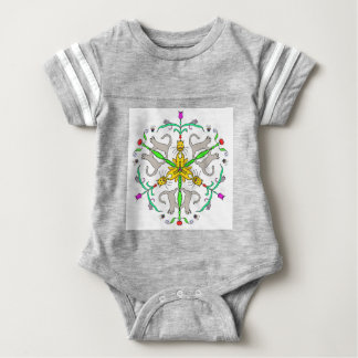 Cat kaliedoscope baby bodysuit