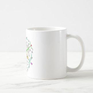 Cat kaliedoscope coffee mug