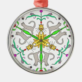 Cat kaliedoscope metal ornament