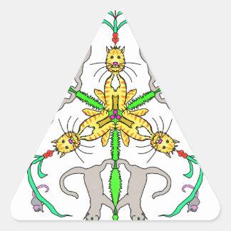 Cat kaliedoscope triangle sticker