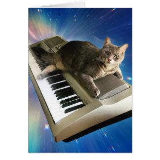 cat keyboard card