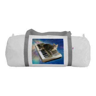 cat keyboard gym duffel bag