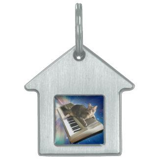 cat keyboard pet ID tag