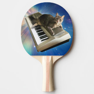 cat keyboard ping pong paddle