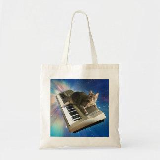 cat keyboard tote bag