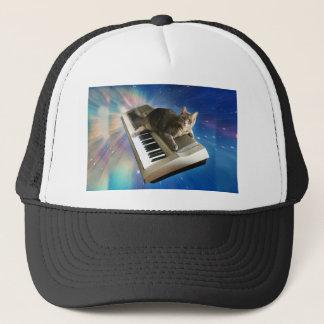 cat keyboard trucker hat