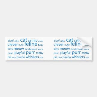 Cat Keyword Tag Cloud Bumper Sticker