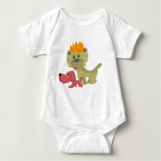 cat king baby bodysuit