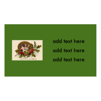 Cat Kitten Holly Winterberry Pack Of Standard Business Cards