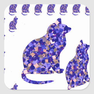 Cat Kittens KIDS Love Template Greetings Gifts FUN Sticker