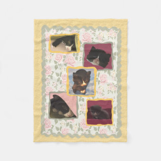 Cat, Kitty Cats Home Sweet Home Fleece Blanket