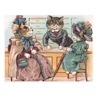 Cat Ladies Shopping Postcards