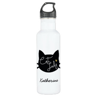 Cat Lady 710 Ml Water Bottle