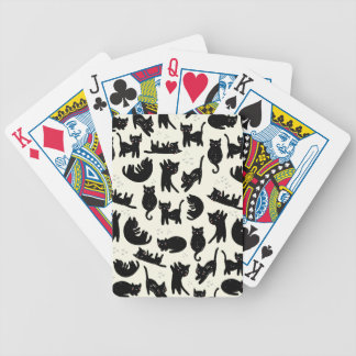 Cat Lady Bicycle Playing Cards