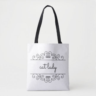 Cat Lady Scrollwork Tote