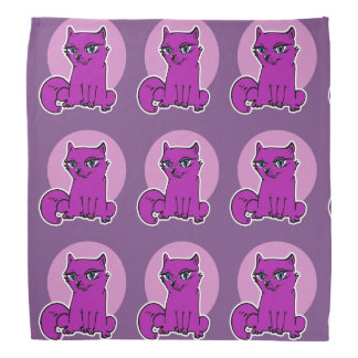 cat lady sweet kitty sitting cartoon bandana