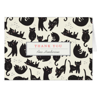 Cat Lady Thank You Card