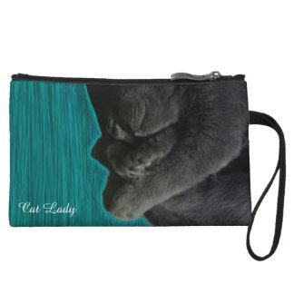Cat Lady Wristlet
