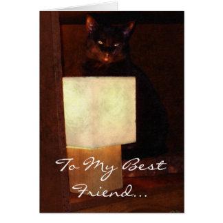 Cat & Lamp Fun Best Friends BFF Card