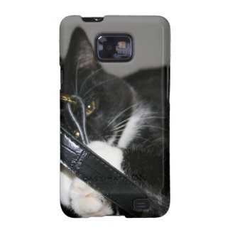 Cat Left Holding the Bag Galaxy SII Covers