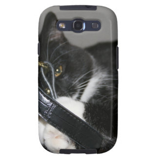 Cat Left Holding the Bag Samsung Galaxy S3 Cases