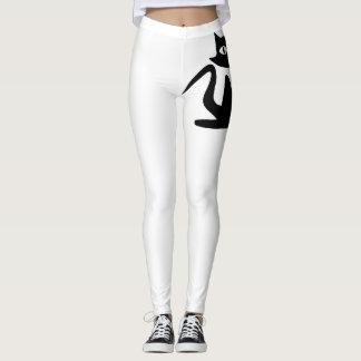 Cat Leggings (White)