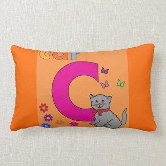 Cat Letter C Lumbar Pillow