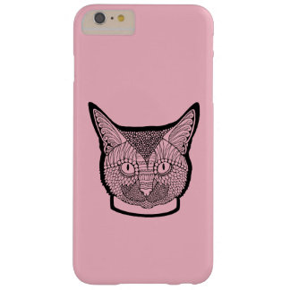 Cat Line Art Design Barely There iPhone 6 Plus Case